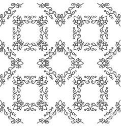 Geometrical pattern flower vector