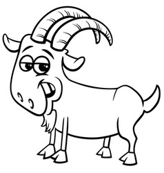 goat farm animal character color book vector image