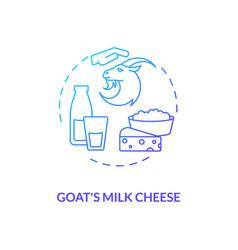 Goat milk cheese blue gradient concept icon vector