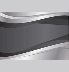 Gray and silver wave abstract background vector