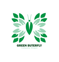 green butterfly logo vector image