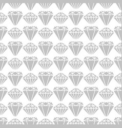 grey diamond shapes seamless pattern design vector image