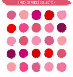 grunge circle brush strokes vector image