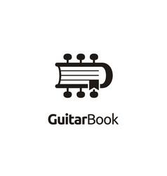Guitar chord magazine book music lesson logo vector
