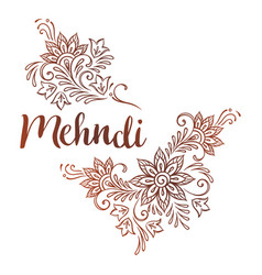 hand drawn template for mehndi ornate ethnic vector image