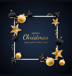 happy new year design with shiny golden and black vector image