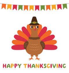 happy thanksgiving greeting card with a vector image