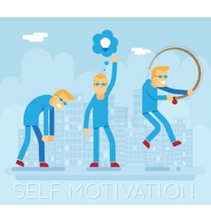 Hipster Characters Self Motivation Concept Urban vector
