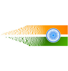 Indian flag abstract design with particle effect vector