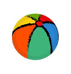 Isolated beach ball icon vector