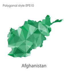 Isolated icon afghanistan map polygonal vector
