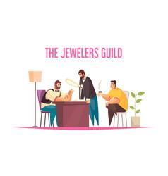 jeweller concept vector image