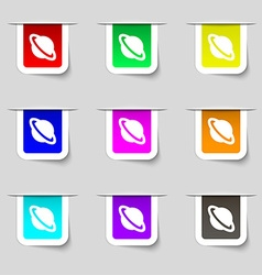 Jupiter planet icon sign Set of multicolored vector image