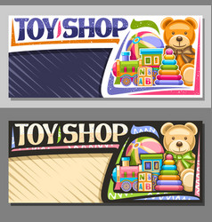 layouts for toy shop vector image