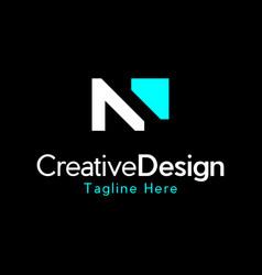 letter n monogram creative modern logo vector image
