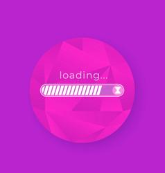 loading bar design vector image