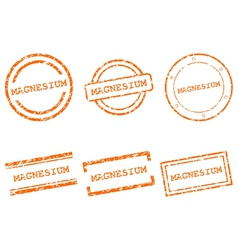 Magnesium stamps vector