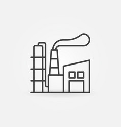manufacturing plant line icon vector image