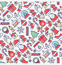 merry christmas celebration seamless pattern vector image