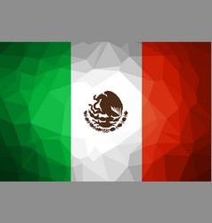 Mexico flag abstract polygon background vector