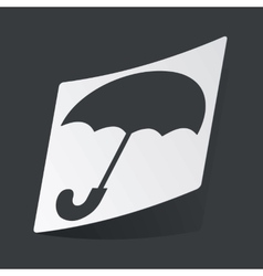 Monochrome umbrella sticker vector