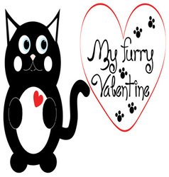 My Furry Valentine vector image vector image
