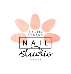 Nail luxury studio logo design element for nail vector