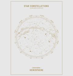 Northern hemisphere high detailed star map vector
