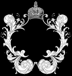 Ornate heraldic art deco vector