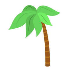 palm tree icon isometric style vector image