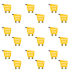 pattern seamless background with pushcart vector image