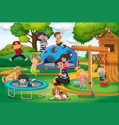 People at the playground vector