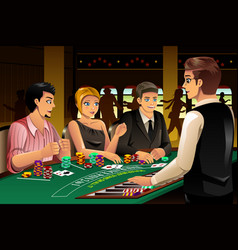 People gambling in a casino vector
