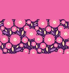 pink folk flowers texture pattern vector image