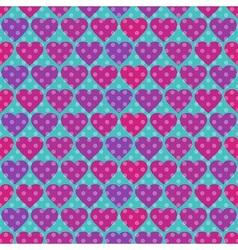 Polka dot and Hearts vector image