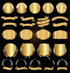 Premium quality golden labels collection vector