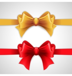 Red and gold holiday ribbon with bow vector