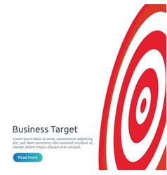 Red dartboard center goal strategy achievement vector
