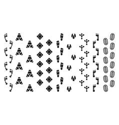 Robot footprints tracks vector