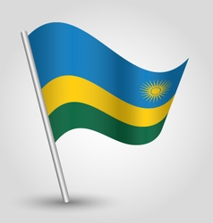 Rwandan flag on pole vector