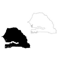 senegal map vector image