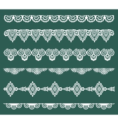 Set lace ribbons vector