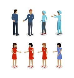 Set of Sellers Characters Shop Assistans vector image