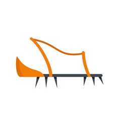 shoe hiking tool icon flat style vector image
