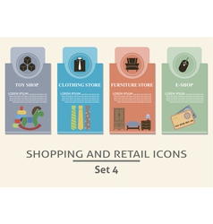 Shopping and retail labels vector