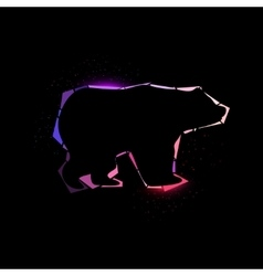 Space bear vector image