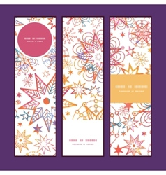 Textured christmas stars vertical banners set vector