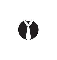 tie logo icon design template vector image