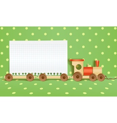 Toy railway background vector image