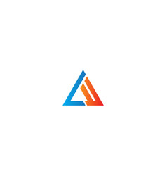 triangle line colorful logo vector image